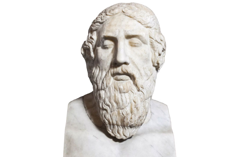 Homer famous of all Greek writers and poets.
