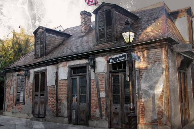 Lafitte's Blacksmith Shop Bar haunted places in New Orleans