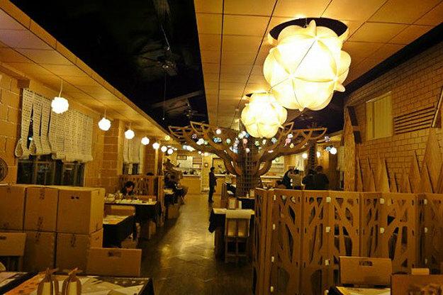 Most Interesting Restaurants In The World Cardboard Restaurant, Taiwan