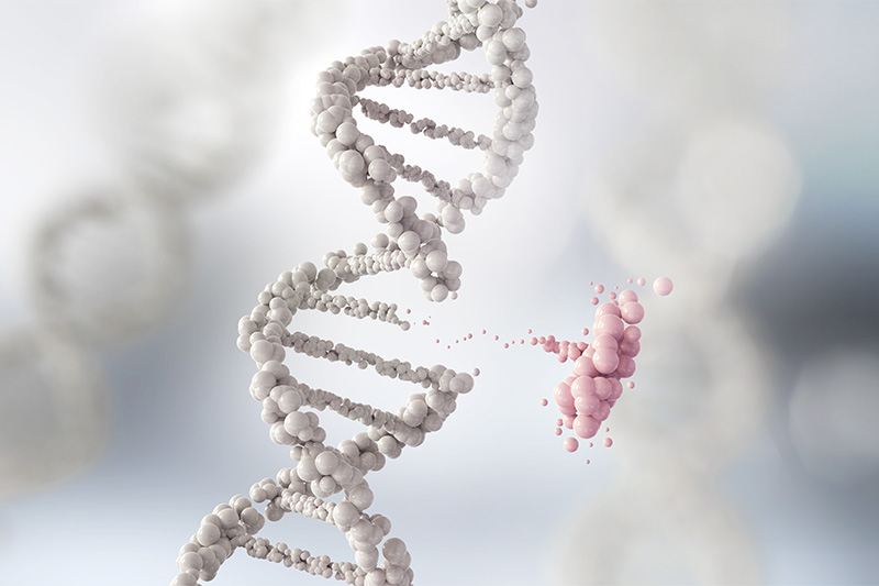 Millions of genetic mutations happen during a person's life.