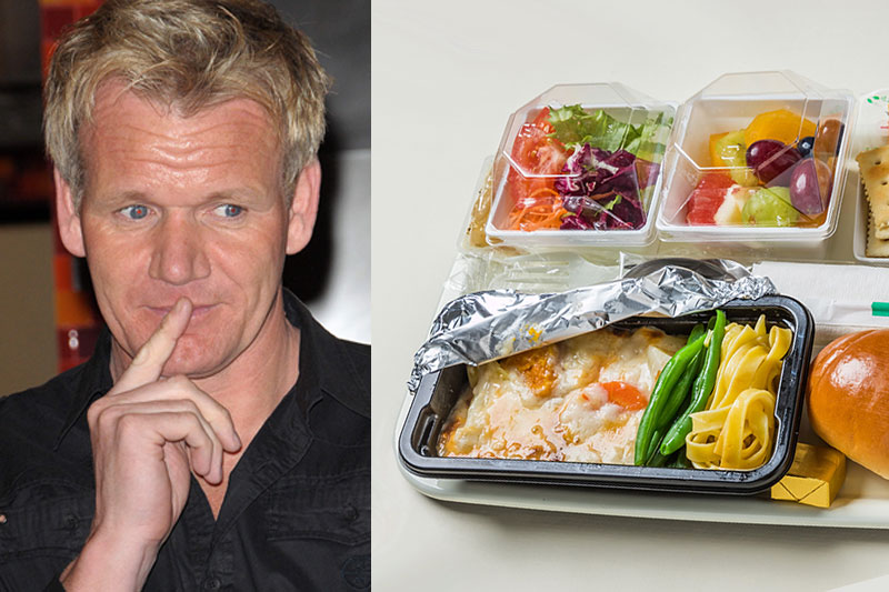 Gordon Ramsay won't eat airplane food