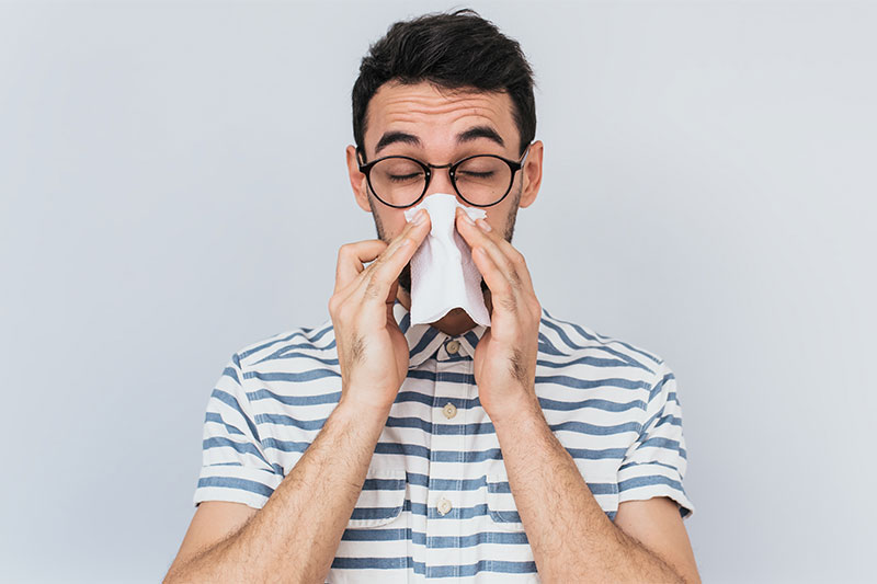 Blowing the nose, mucus, manage cold