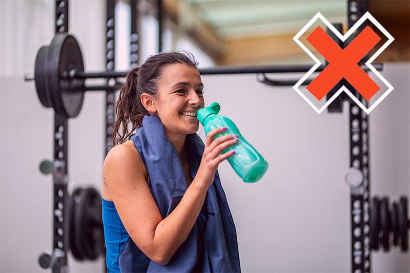 drink water During an intense workout