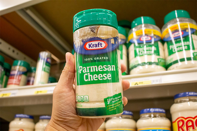 Bottled Parmesan cheese