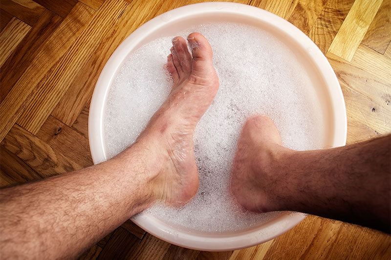 Wash your feet