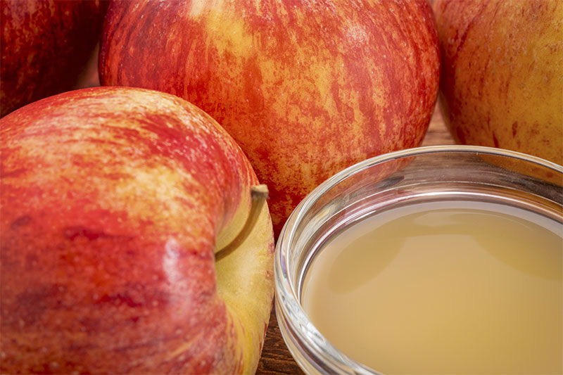Lowers LDL apple cider vinegar