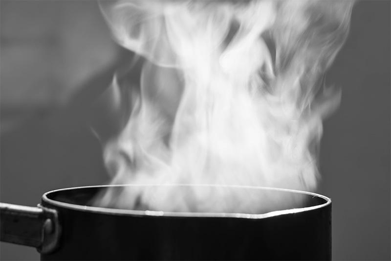 Avoid boiling water