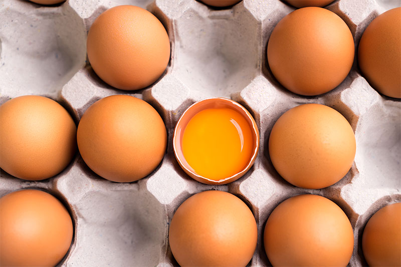 You're not using fresh eggs