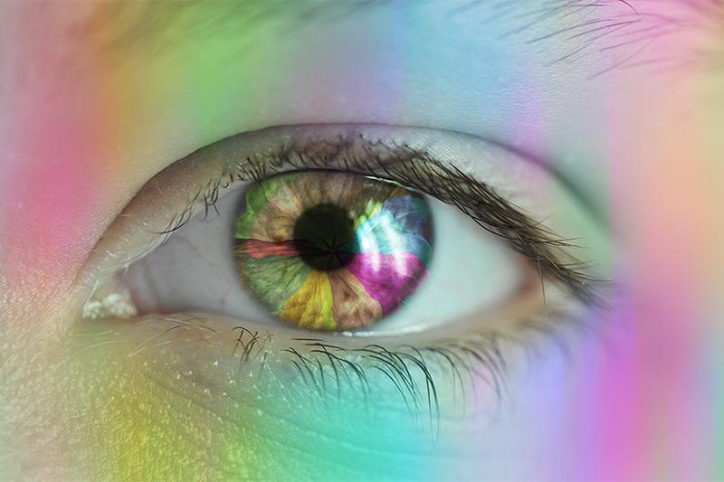 Your color perception decreases