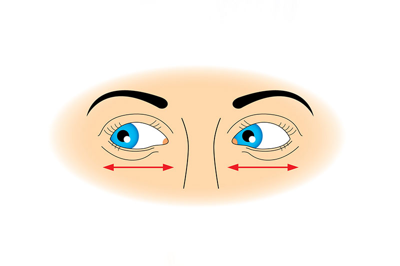 Move Your Eyes from Side to Side